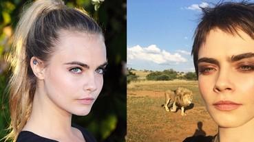 模特兒不易當!為拍攝美照,Cara Delevingne 要與獅子作超近距離接觸!
