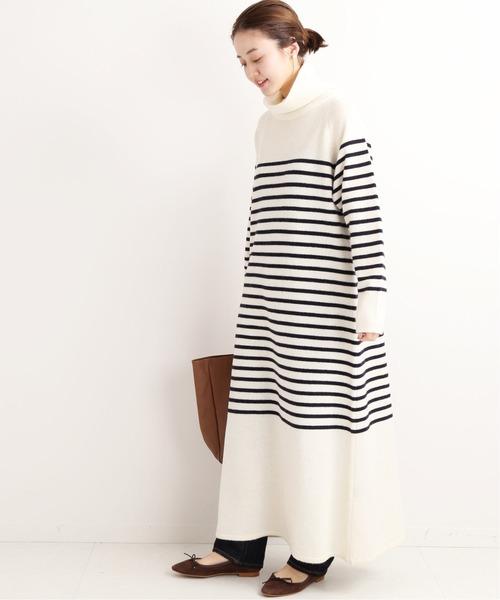 寬鬆高領大版型針織連身裙