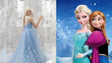 日本婚紗品牌 KURAUDIA 聯名迪士尼推出《冰雪奇緣》款婚紗,絕美造型令人想秒嫁!