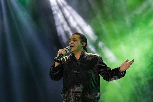 Singer Didi Kempot performs at Synchronize Festival 2019 at JI. Expo Kemayoran in Jakarta on Oct. 4.