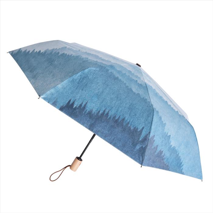 【2mm】迷霧森林 高防曬零透光黑膠自動開收傘