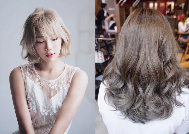 奶茶灰色 髮色