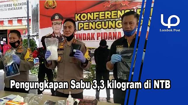 VIDEO :  Tim Gabungan Bongkar Sindikat Pengiriman 3,3 Kilo Sabu ke NTB