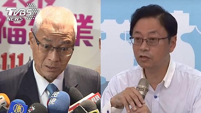 國民黨黨主席吳敦義(左)、國民黨總統參選人韓國瑜副手張善政(右)。圖/TVBS資料畫面