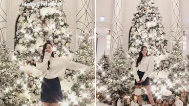 台灣太美!潔西卡《最新穿搭》聖誕節分享台灣聖誕樹!