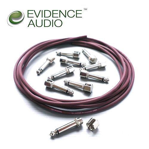 【敦煌樂器】Evidence Audio SIS Monorail 免焊接短導線套組 酒紅色