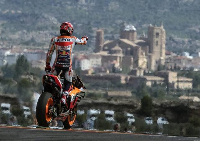 Marc Marquez menang MotoGP Aragon