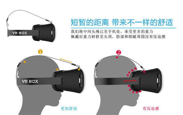 VRBOX頭戴式ar頭盔眼鏡虛擬現實3D影院智能手機游戲一體機游戲
