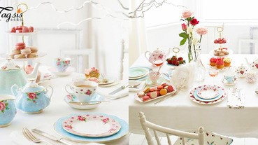 少女的情懷!精緻女孩家裡必備花花餐碟〜來一個粉色花花世界下午茶!