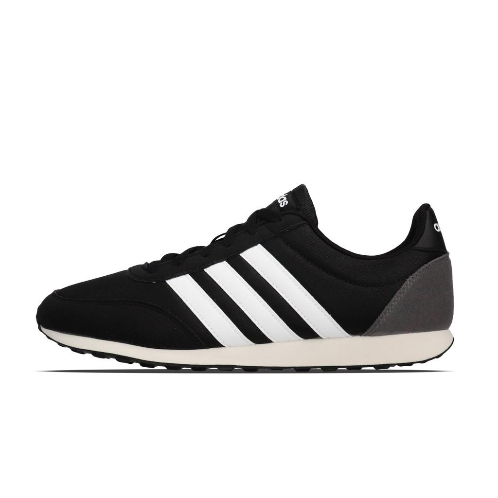 adidas 慢跑鞋 V Racer 2.0 黑 白 復古 奶油底 基本款 男鞋 運動鞋 BC0106 【ACS】