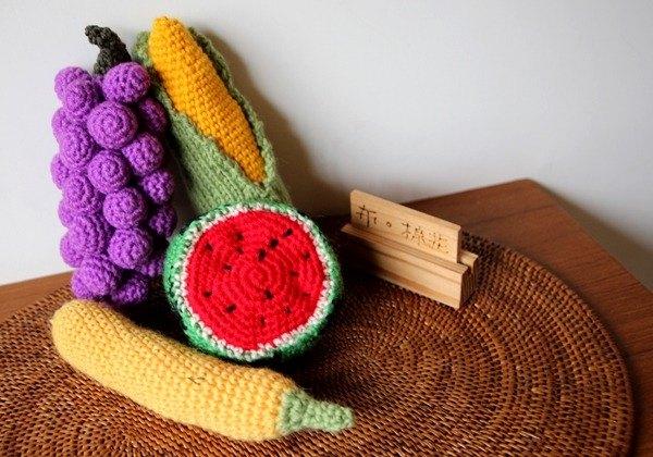 布棉花100%獨家的毛線娃娃。滿滿滿的毛線水果籃