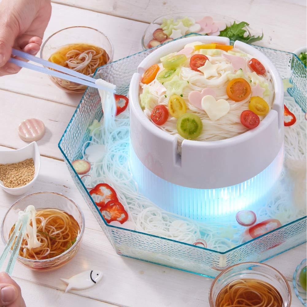 2019最新款 日本公司貨 DOSHISHA DWT-19 流水素麵機 流水麵機 LED 發光 涼麵 蕎麥麵  夏日親子同樂 日本必買代購《雙11期間限定 消費滿555領券折55》