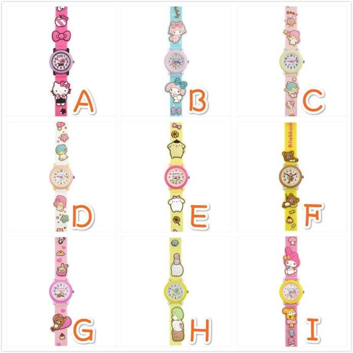 ((現貨+預購))日本三麗鷗 3D手錶 立體手錶 KITTY 美樂蒂 雙子星 拉拉熊 角落生物_ 櫻花寶寶