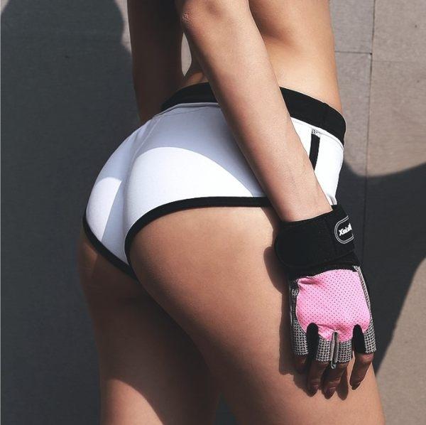 顯腿長運動短褲 女包邊翹臀褲馬拉松褲健身褲單車褲瑜伽短褲真理褲安全褲內搭褲熱褲/澤米