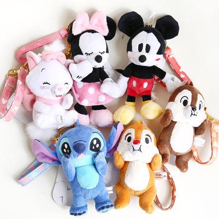 日貨 正版 迪士尼掛繩娃娃吊飾 吊飾 鑰匙圈 皮帶 娃娃 米奇米妮 奇奇蒂蒂 維尼 迪士尼