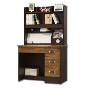 【AS】波頓自然風3尺書桌全組-91x54x155cm(兩色可選)雪白
