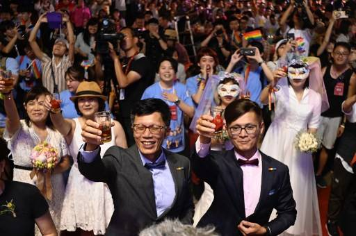 Taiwan made history on Friday( May 24 with Asia s first legal gay weddings