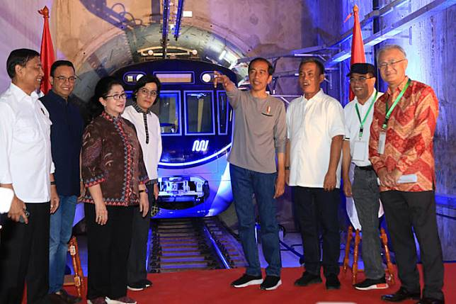 "President Joko ""Jokowi"" Widodo officially inaugurated the country's first MRT line in Jakarta on Sunday, calling on citizens to adapt to a new culture of mass transportation."