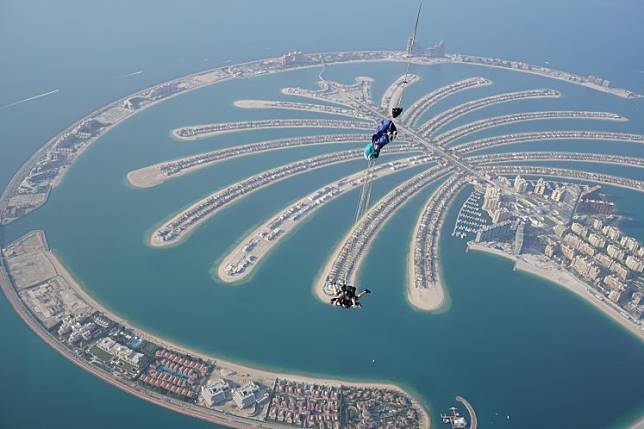 Skydiving is among the challenges faced by 'Dubai Ultimate Challenge' participants.
