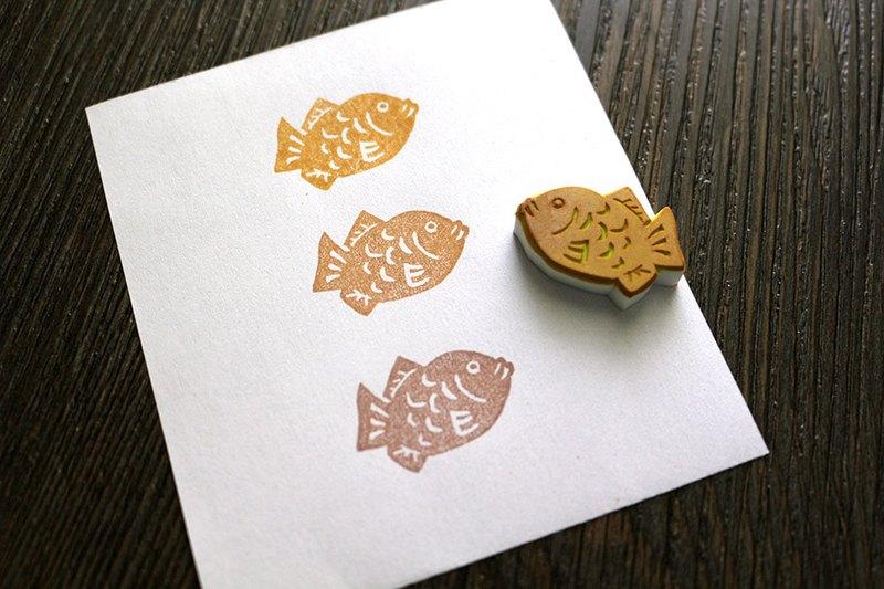 超可爱迷你鲷鱼烧印章 手帐印章