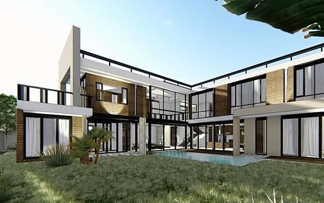 desain rumah baru Titi Kamal