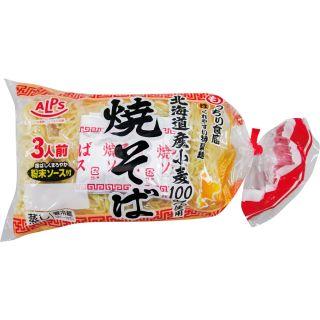 〈マック食品〉北海道産小麦100%使用アルプス焼そば 150g×3