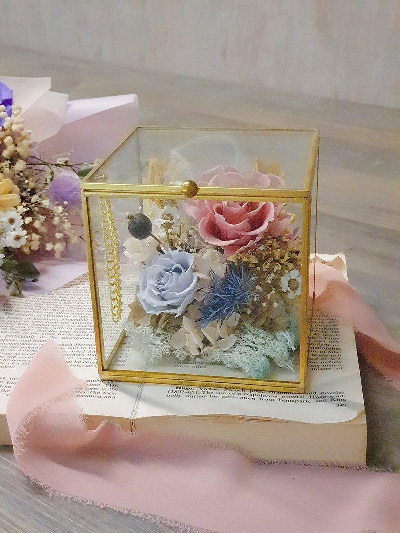 七夕情人節永恆玫瑰花珠寶盒---限量花禮