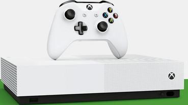 微軟正式發表無光碟版「全數位化」主機:Xbox One S All-Digital Edition,台幣約 7,700 元