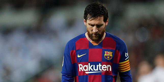 Kapten Barcelona, Lionel Messi. (c) AP Photo