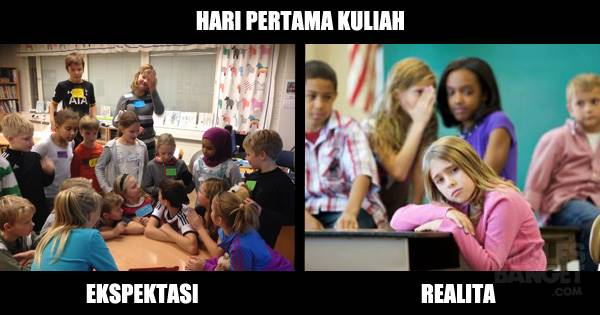 Ekspektasi vs Realita Hari Pertama Kuliah