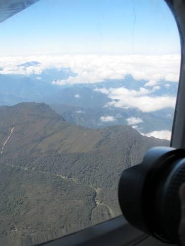 Potret Gunung Tangga Surga dari pesawat (Afif/detikTravel)
