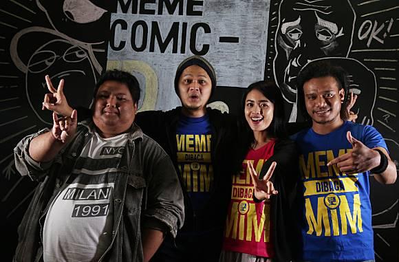 Kru MCI (dari kiri ke kanan) Seto Adji Wirantono, Andre Prodjo, Ani Eliya, Calvin  Foto: Ari Saputra/detikcom