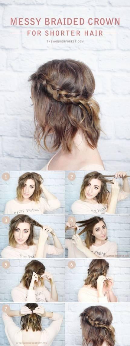 Ini Dia Gaya Rambut Kepang Yang Bisa Dicoba Pada Rambut Pendek - Gaya rambut pendek kepang