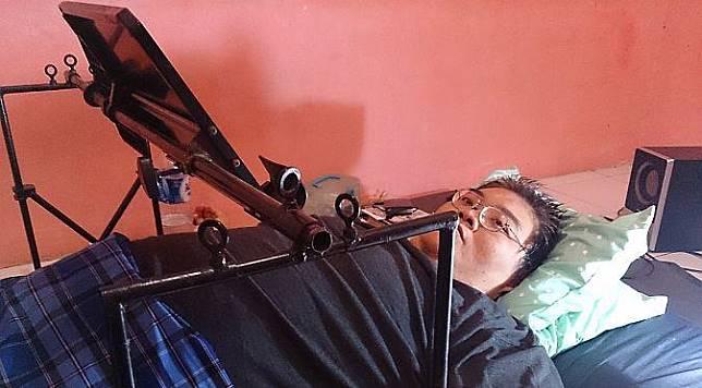 Lumpuh 4 Tahun, Programmer Samuel Franklyn Tetap Semangat