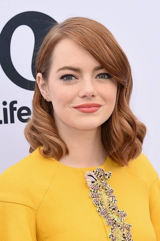 Image result for shoulder length hair emma stone