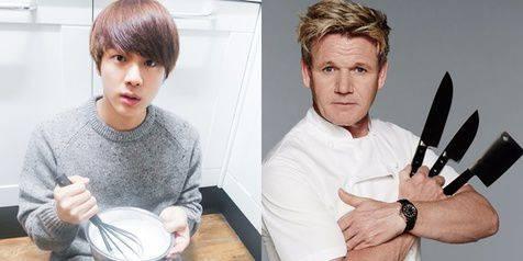 Entertainment :  Masakan Buatan Jin BTS Dibilang Cacing Oleh Chef Gordon Ramsay