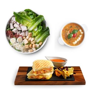 Tandoori Chicken Panini + Grilled Chicken Caesar - S + Minestrone Soup ลดพิเศษ!